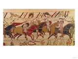 Bishop Odo Holding a Baton Urges on the Young Soldiers, from the Bayeux Tapestry Giclee Print
