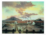 A Sugar Plantation in the South of Trinidad, circa 1850 Giclee Print by C. Bauer
