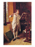 The Flute Player Premium Giclee Print by Jean-Louis Ernest Meissonier