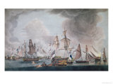 The Defeat of the Combined Forces of France and Spain at the Battle of Trafalgar in 1805 Giclee Print by Robert Dodd