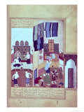 A Public Bath, from the Khamsa of Nizami, 1494 Giclee Print by Kamal-udin Bihzad