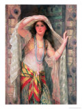 Safie, One of the Three Ladies of Baghdad Premium Giclee Print by William Clarke Wontner