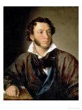 Portrait of Alexander Pushkin (1799-1837) Giclee Print by Vasili Andreevich Tropinin