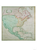 Map of North America, Published by T. Stackhouse, 1783 Giclee Print