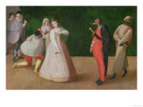 The Commedia Dell'Arte Company Giclee Print