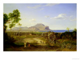 View over Palermo, 1828 Premium Giclee Print by Carl Rottmann