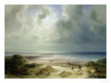 Dune by Hegoland, Tranquil Sea Giclee Print by Carl Morgenstern