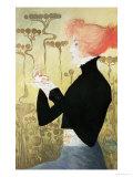 Portrait of Sarah Bernhardt Lámina giclée por Manuel Orazi