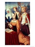 Anne of Brittany with St. Anne, St. Ursula and St. Helen Giclee Print by Jean Bourdichon