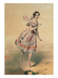 "Dancer Maria Taglioni (1804-84) in the Ballet ""Sylphides,"" 1840s Giclee Print"