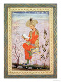 Babur (R.1526-30) Reading, Mughal Giclee Print by Bishn Das