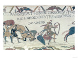 Harold Drags Soldiers from the Quicksand, from the Bayeux Tapestry (Embroidery on Linen) Giclee Print