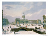 Kazan Cathedral, St. Petersburg, Printed by Lemercier, Paris, 1840s Giclee Print by Louis Jules Arnout