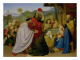 The Adoration of the Kings, 1813 Giclee Print by Friedrich Overbeck