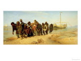 The Boatmen on the Volga, 1870-73 Giclee Print by Ilya Efimovich Repin