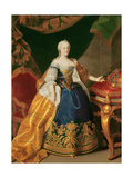 Portrait of the Empress Maria Theresa of Austria (1717-80)  Lámina giclée por Martin van Meytens