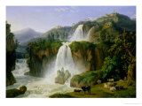 The Waterfall at Tivoli, 1785 Giclee Print by Jacob-Philippe Hackert