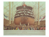 Launch of H.M.S. Royal Albert, Screw Steamer, 131 Guns, at Woolwich, May 13th 1854 Giclee Print