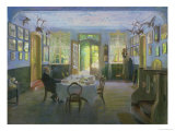 The Hall of the Manor House in Waltershof, 1894 Giclee Print by Hans Olde