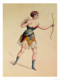 "Cora Pearl as Cupidon in Offenbach's ""Orpheus in the Underworld"" Giclee Print"