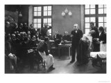 A Clinical Lesson with Doctor Charcot at the Salpetriere, 1887 Gicle-tryk af Pierre Andre Brouillet