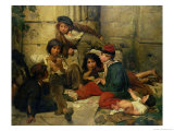 Children of the Streets of Paris, 1852 Giclee Print by Friedrich Karl Hausmann