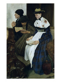Three Women in Church, 1882 (Oil on Panel) Giclee Print by Wilhelm Maria Hubertus Leibl