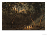 Aboriginal Coroboree in Van Diemen's Land Premium Giclee Print by John Glover