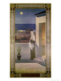St. Genevieve Watches over the Sleeping City of Paris, 1898 Premium Giclee Print by Pierre Puvis de Chavannes