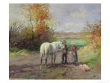 Encounter on the Way to the Field, 1897 Giclee Print by Thomas Ludwig Herbst
