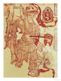 Chinese Figure Possibly Hsuan-Tsang (602-664) Carrying the Buddhist Scriptures Giclee Print