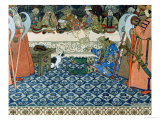 "Illustration for Alexander Pushkin's ""Fairytale of the Tsar Saltan,"" 1905 Premium Giclee Print by Ivan Bilibin"