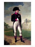 Napoleon I (1769-1821) in Front of the Chateau De Malmaison, 1804 Reproduction procédé giclée par Francois Gerard