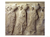 Relief Depicting Hydria Carriers from the North Frieze of the Parthenon, circa 447-432 BC Premium Giclee Print