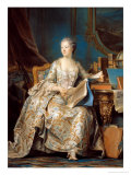 Jeanne Poisson (1721-64) the Marquise De Pompadour, 1755 Reproduction proc&#233;d&#233; gicl&#233;e par Maurice Quentin de La Tour