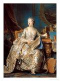 Jeanne Poisson (1721-64) the Marquise De Pompadour, 1755 Giclee Print by Maurice Quentin de La Tour