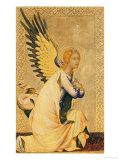Angel Gabriel (tempera and gold leaf on panel) Lámina giclée por Simone Martini