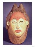 Dance Mask, Mponge Tribe, Gabon Giclee Print