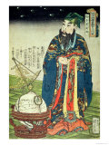 Father Ferdinand Verbiest (1623-88) Dressed as a Chinese Astrologer Giclee Print by Kuniyoshi 