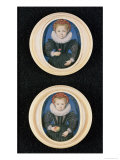 Two Little Girls, 1590 Giclee Print by Isaac Oliver