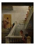 Distributing Milk at St. Lazare Prison, 1794 Giclee Print by Hubert Robert