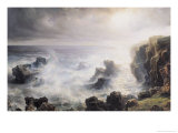 Storm off the Coast of Belle-Ile Giclee Print by Baron Theodore Gudin