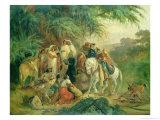 Folk Scene in Pico De Orizaba, Mexico Giclee Print by Johann Moritz Rugendas