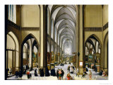 Interior of Antwerp Cathedral Premium Giclee Print by Hendrik van Steenwyck