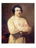 Honore De Balzac (1799-1850) in His Monk's Habit, 1829 Giclee Print by Louis Boulanger