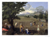 Summer, or Ruth and Boaz, 1660-64 Giclee Print by Nicolas Poussin
