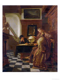 Geographers at Work Giclee Print by Cornelis de Man