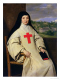 Mother Angelique Arnauld (1591-1661) Abbess of Port-Royal, 1654 Giclee Print by Philippe De Champaigne