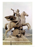 "Fame Riding Pegasus (""Le Cheval De Marly"") 1699-1702 Giclee Print by Antoine Coysevox"