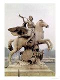 "Fame Riding Pegasus (""Le Cheval De Marly"") 1699-1702 Premium Giclee Print by Antoine Coysevox"